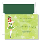 Noteworthy Collections - Holiday Invitations (St. Patrick's Day Girl)