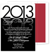 Noteworthy Collections - Holiday Invitations (New Year's Reflection Black)
