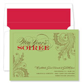 Noteworthy Collections - Holiday Invitations (New Year's Soiree Wasabi)