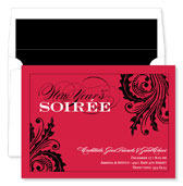 Noteworthy Collections - Holiday Invitations (New Year's Soiree Berry)