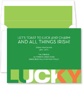 Noteworthy Collections - St. Patrick's Day Party Invitations (Lucky)