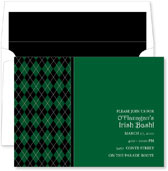 Noteworthy Collections - St. Patrick's Day Party Invitations (St. Pats Argyle)