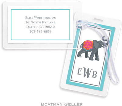 Boatman Geller  Luggage/ID Tags - Elephant (#BT1)