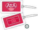 Devora Designs - Laminated Luggage/ID Tags (Alpha Sigma Alpha - Greek Dots) ASA