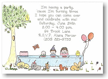 Blue Mug Designs Invitations - It's Party Time