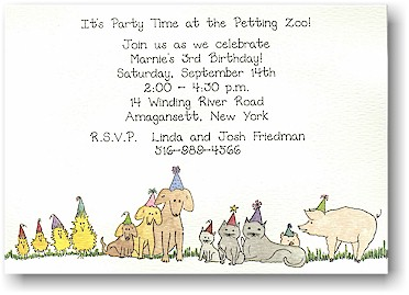 Blue Mug Designs Invitations - Party Animals