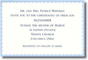 Boatman Geller - Blue Scallop Invitations