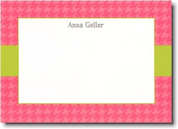 Boatman Geller - Pink Houndstooth/Lime Band Invitations