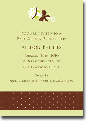 Boatman Geller - Baby Rattle Birth Announcements/Invitations (V)