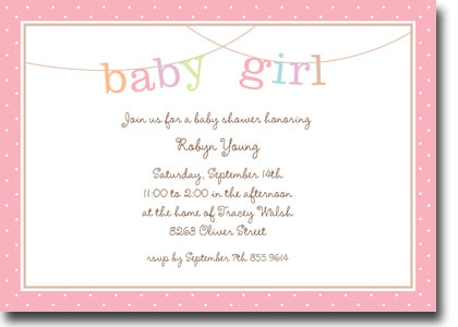 Boatman Geller - Banner Baby Girl Birth Announcements/Invitations (H)