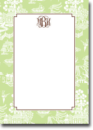 Boatman Geller - Chinoiserie Green Invitations (V)
