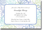 Boatman Geller Invitations - Chelsea Floral Blue