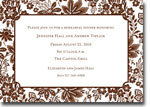 Boatman Geller Invitations - Willow Floral Brown