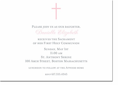 Boatman Geller - Communion (Pink) Invitations
