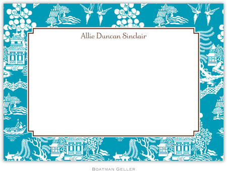 Boatman Geller - Create-Your-Own Birth Announcements/Invitations (Chinoiserie)
