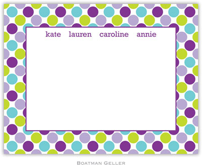 Boatman Geller - Big Dots Purple Birth Announcements/Invitations