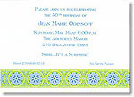 Boatman Geller - Lime Floral Band Invitations
