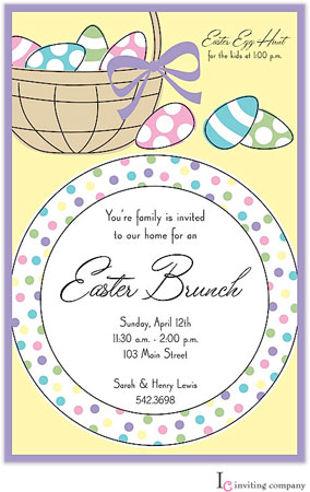 Inviting Co. - Invitations (Easter Placesetting) (1-2097P)