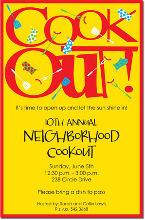 Inviting Co. - Invitations (Cook Out!) (1-2204P)
