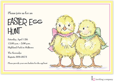 Inviting Co. - Invitations (Easter Chicks) (1C-278P)