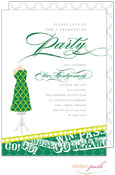 Modern Posh Invitations - Graduation (Dark Green & Yellow) (I7J8129-02C-15)