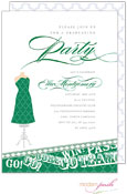 Modern Posh Invitations - Graduation (Dark Green) (I7J8129-02C-17)