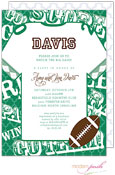 Modern Posh Invitations - Football (Dark Green) (I7J8130-02C-25)