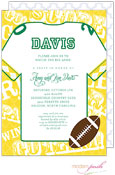Modern Posh Invitations - Football (Gold & Dark Green) (I7J8130-02C-26)