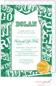 Modern Posh Invitations - Basketball (Dark Green) (I7J8130-02C-8)