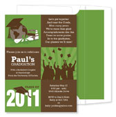 Noteworthy Collections - Invitations (3-Squared Grad Olive - Graduation) (ID-1055)