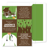 Noteworthy Collections - Invitations (3-Squared Med Grad Olive - Graduation) (ID-1060)