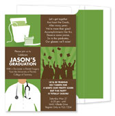 Noteworthy Collections - Invitations (3-Squared Dental Grad Olive - Graduation) (ID-1070)