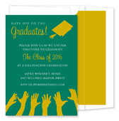 Noteworthy Collections - Graduation Invitations (Hat's Off to the Grad  Green & Gold) (ID-175-C01)
