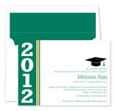 Noteworthy Collections - Graduation Invitations (Simple Band Grad  Green & Gold) (ID-225-C01)