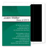 Noteworthy Collections - Graduation Invitations (Modern Band Grad  Green & White) (ID-249-C13)