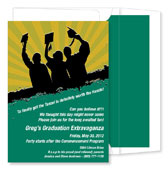 Noteworthy Collections - Graduation Invitations (Worth the Hassle  Green & Gold) (ID-251-C01)