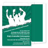 Noteworthy Collections - Graduation Invitations (Worth the Hassle  Green & White) (ID-262-C13)