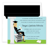 Noteworthy Collections - Graduation Invitations (Stylish Grad Blonde Hair) (ID-264-BL)