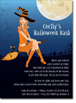 Noteworthy Collections - Halloween Invitations (Witch in Flight Brunette)