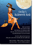 Noteworthy Collections - Halloween Invitations (Witch in Flight Redhead)