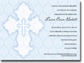 Paper So Pretty - Invitations (Damask Cross Blue - Dig. Printed)