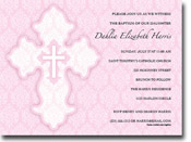 Paper So Pretty - Invitations (Damask Cross Pink)