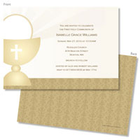 Spark & Spark Invitations (Damask Gold Communion)