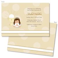 Spark & Spark Invitations (A Praying Girl - Brunette)