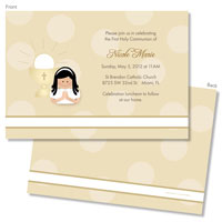 Spark & Spark Invitations (A Praying Girl - Black Hair)