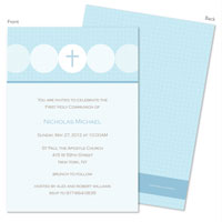Spark & Spark Invitations (Darling Blue Communion)