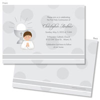 Spark & Spark Invitations (A Praying Boy - Brunette)
