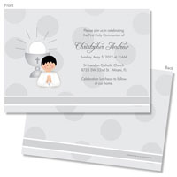 Spark & Spark Invitations (A Praying Boy - Black Hair)