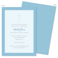 Spark & Spark Invitations (A Blue Scallop Border)