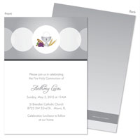 Spark & Spark Invitations (Array Of Grey Circles)